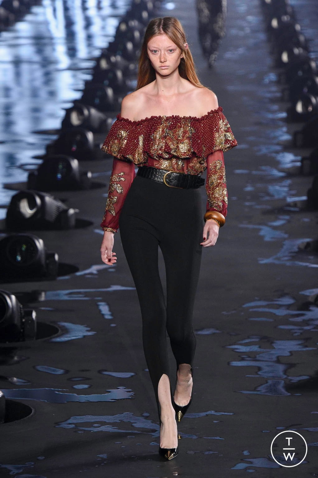 Fashion Week Paris Spring/Summer 2020 look 44 from the Saint Laurent collection womenswear