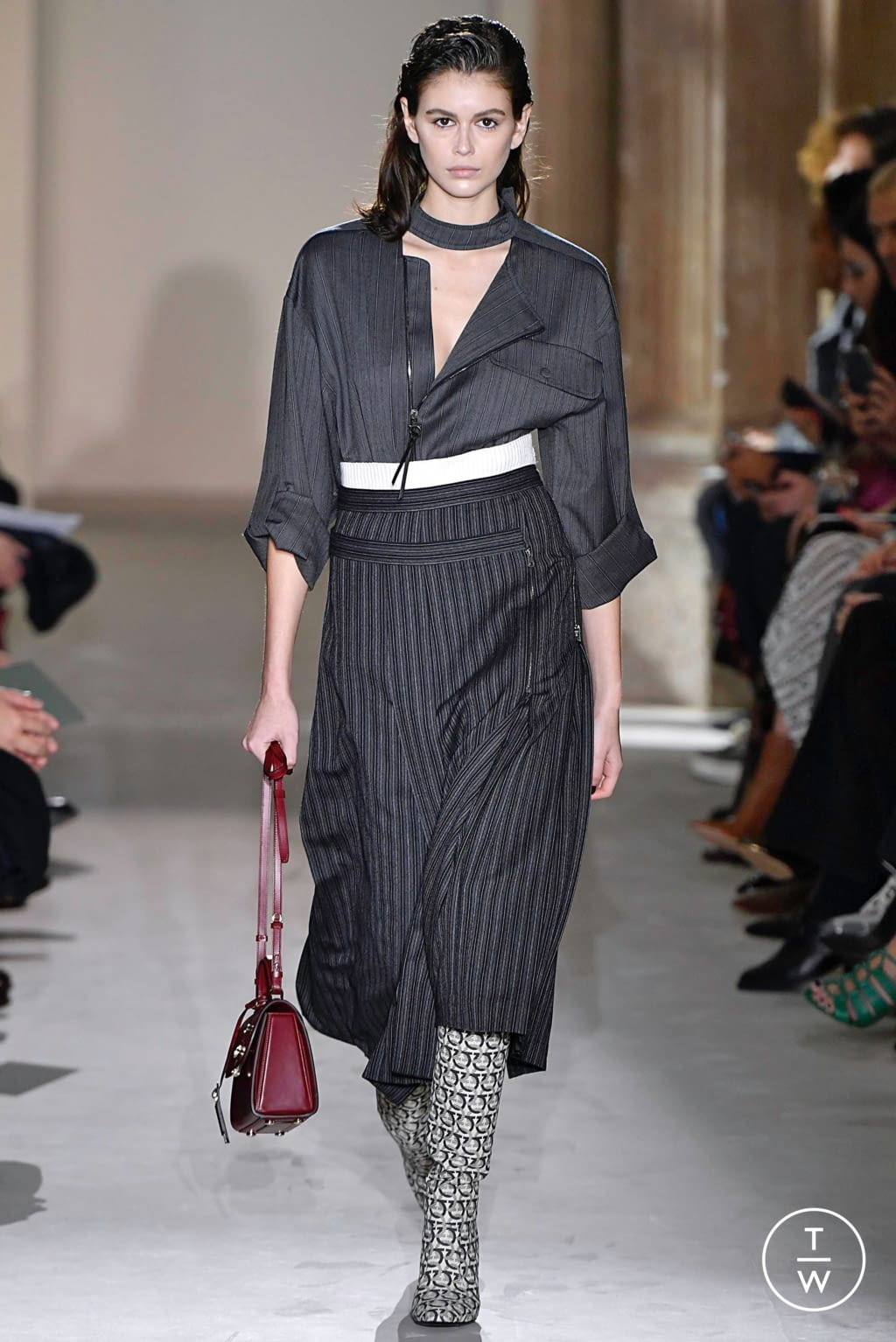 Fashion Week Milan Fall/Winter 2019 look 4 from the Salvatore Ferragamo collection womenswear