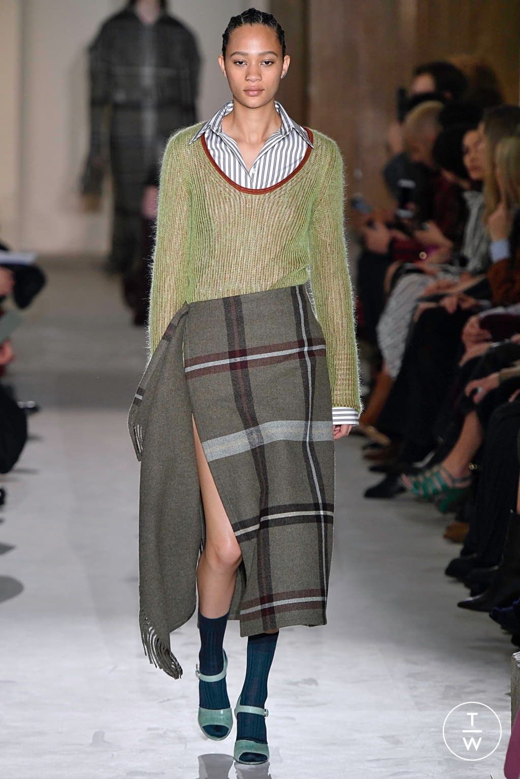 Fashion Week Milan Fall/Winter 2019 look 14 from the Salvatore Ferragamo collection womenswear