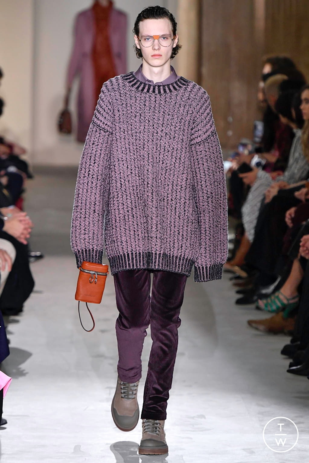 Fashion Week Milan Fall/Winter 2019 look 26 from the Salvatore Ferragamo collection womenswear
