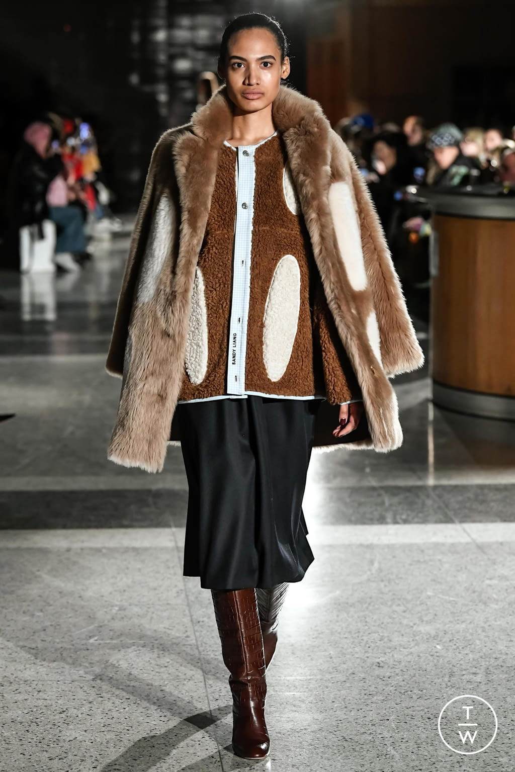 Fashion Week New York Fall/Winter 2020 look 8 from the Sandy Liang collection womenswear