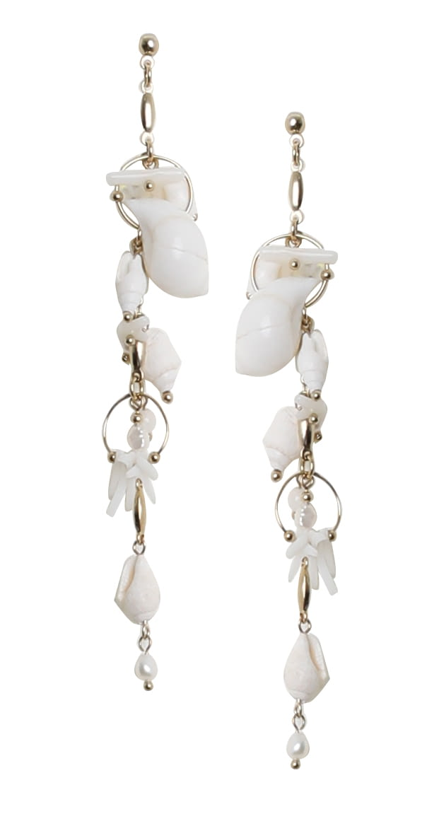 Marks and Spencer Textile Mix Drop Earrings New with Tags