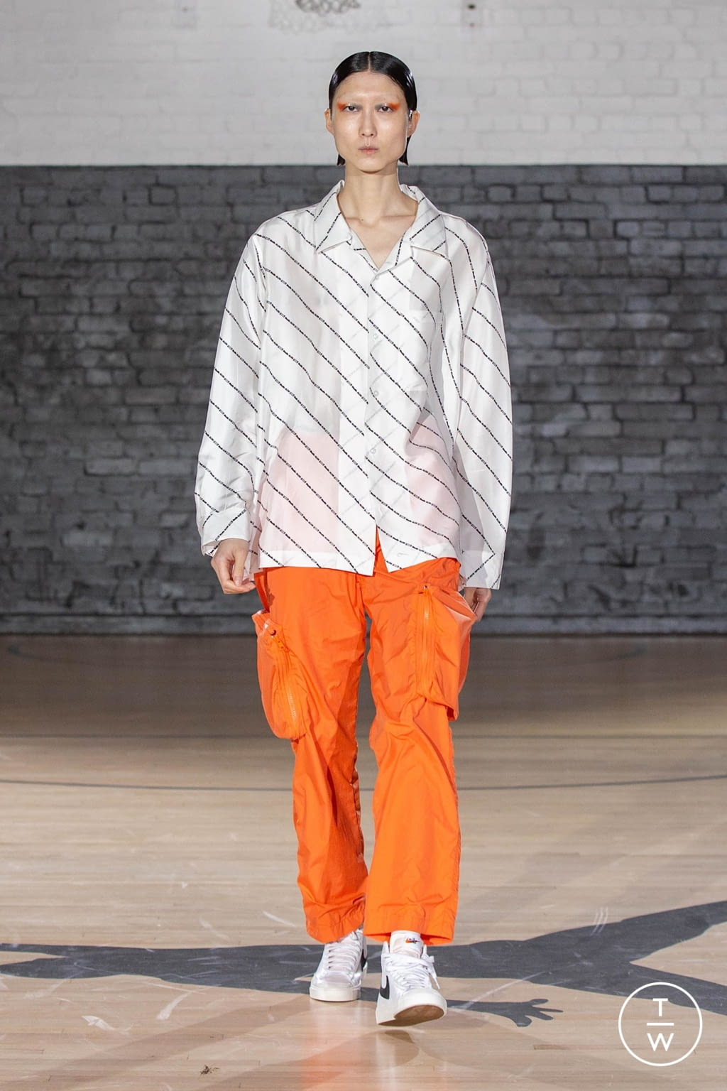 Fashion Week London Fall/Winter 2020 look 10 from the Studio Alch collection menswear
