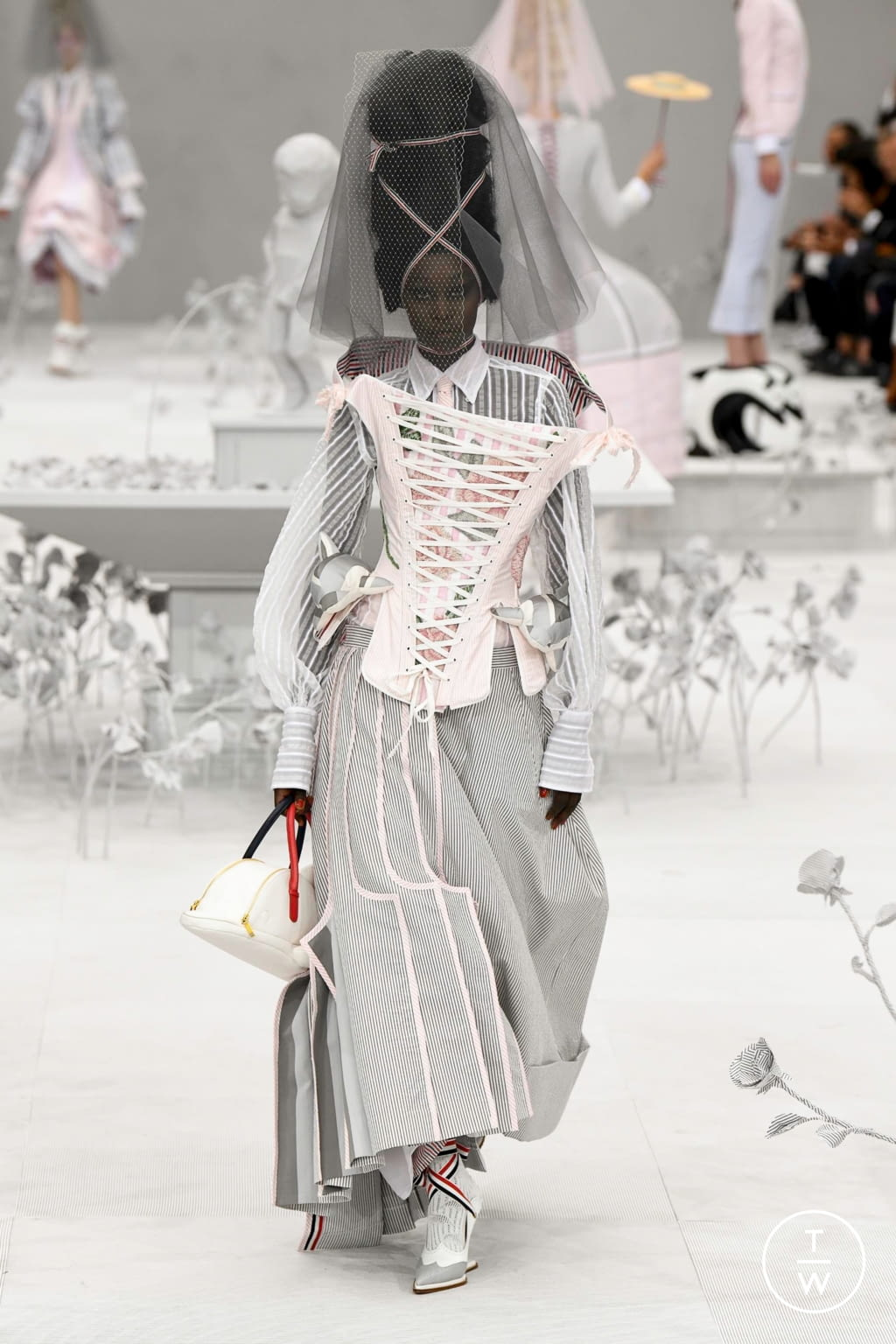 Fashion Week Paris Spring/Summer 2020 look 12 from the Thom Browne collection womenswear