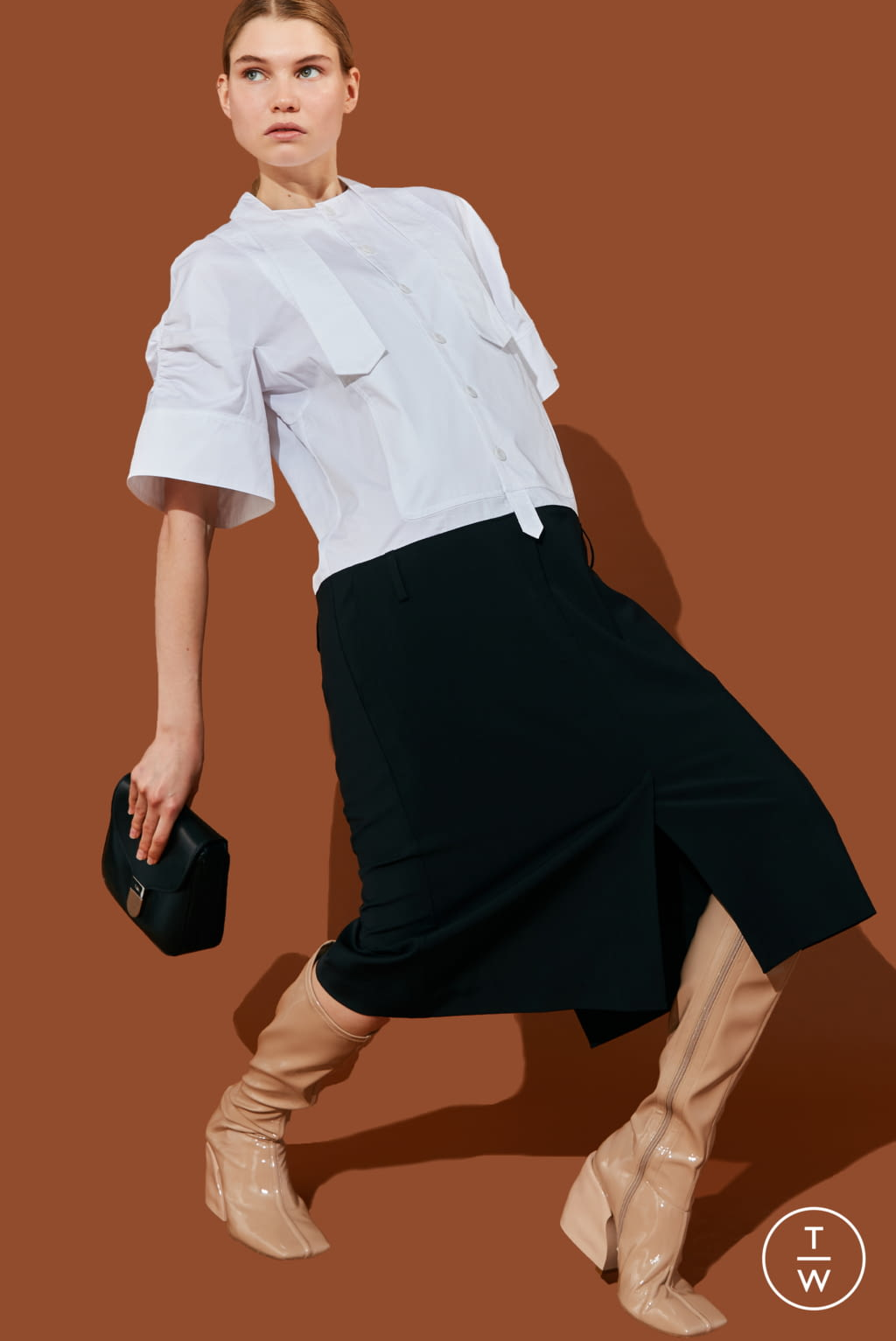 Fashion Week New York Pre-Fall 2020 look 16 from the Tibi collection 女装