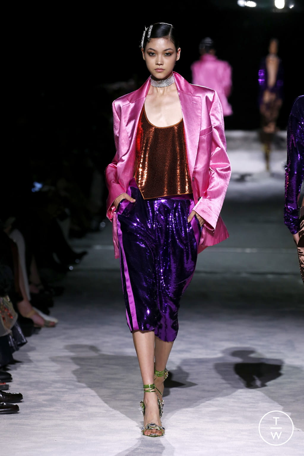 Fashion Week New York Spring/Summer 2022 look 4 from the Tom Ford collection womenswear