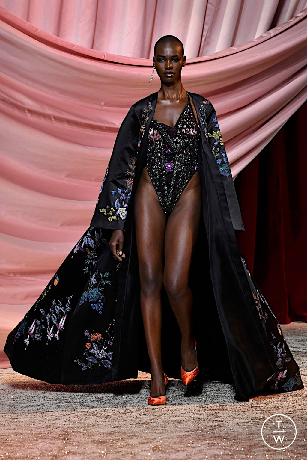 Fashion Week Paris Fall/Winter 2019 look 12 from the Ulyana Sergeenko collection couture