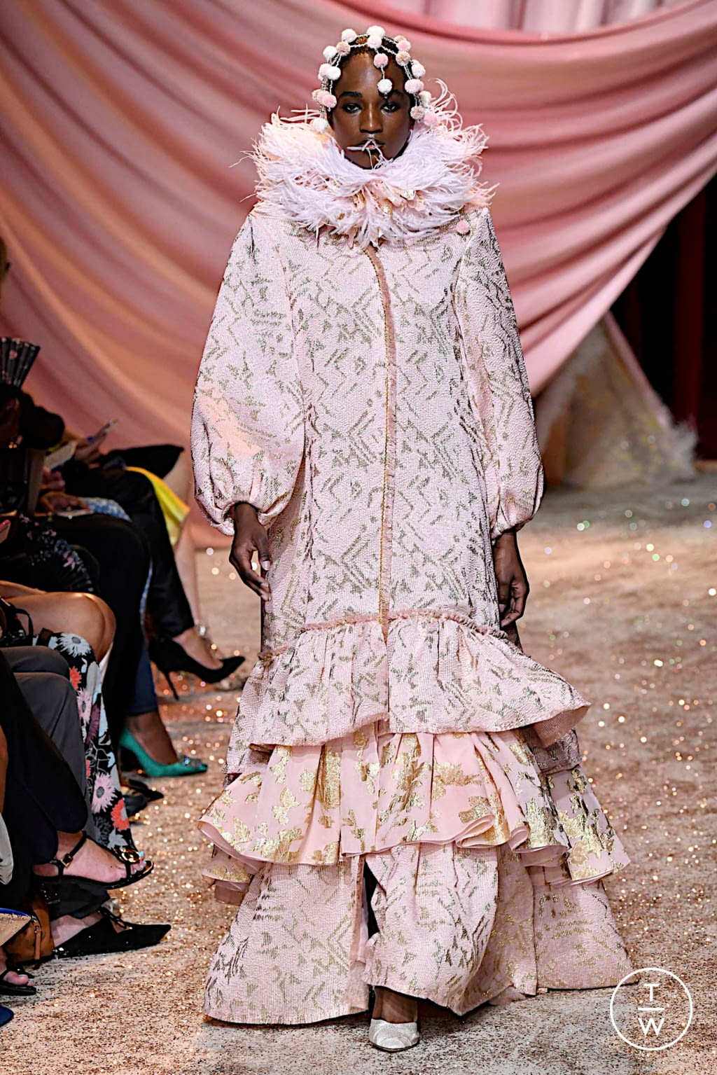 Fashion Week Paris Fall/Winter 2019 look 30 from the Ulyana Sergeenko collection couture