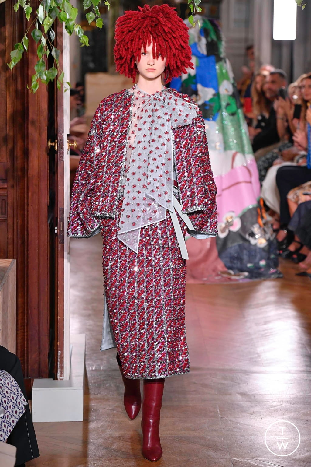Fashion Week Paris Fall/Winter 2019 look 62 from the Valentino collection couture