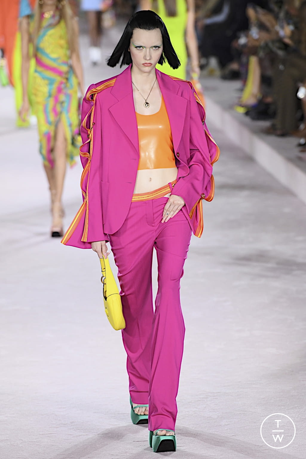 Fashion Week Milan Spring/Summer 2022 look 48 from the Versace collection womenswear