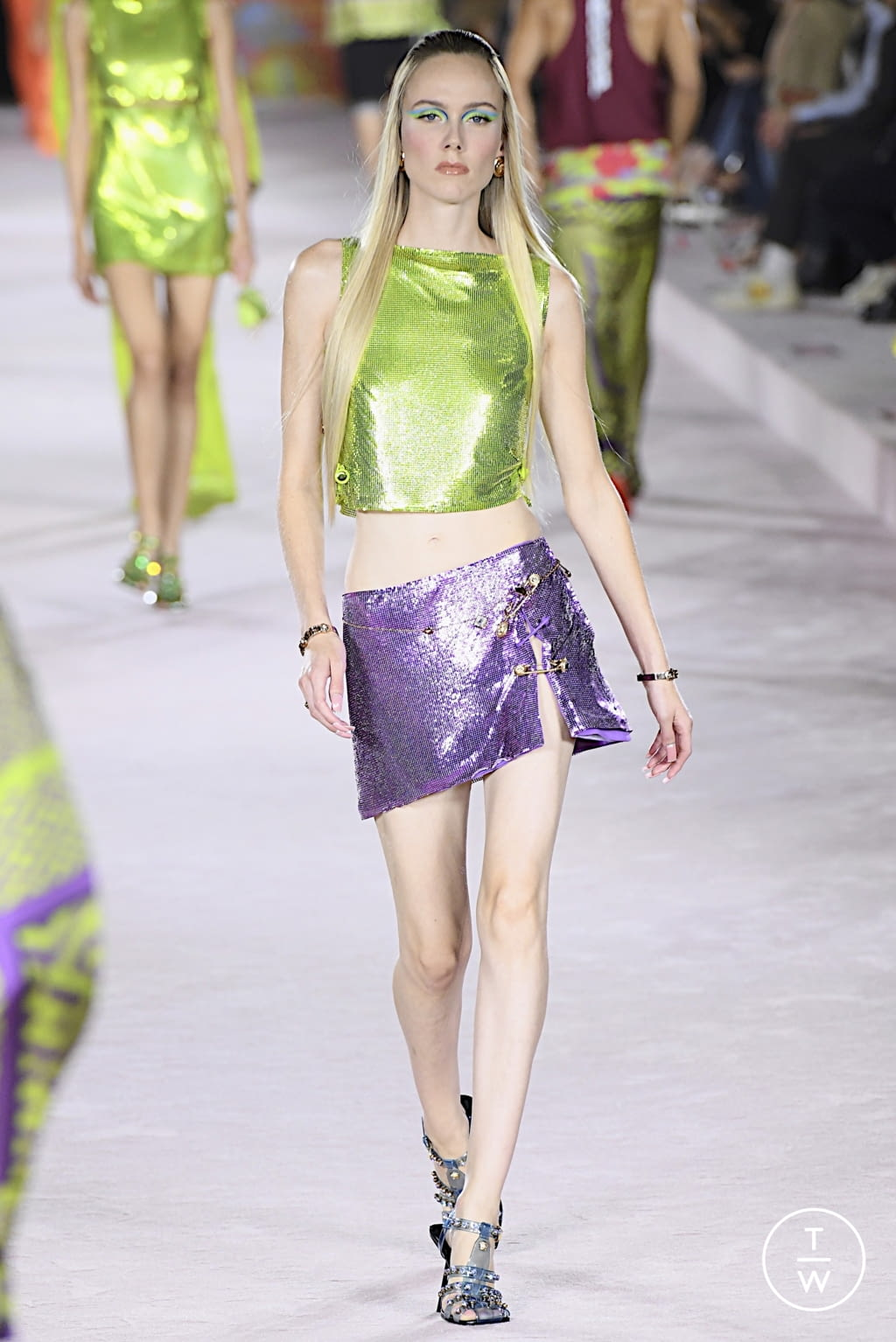 Fashion Week Milan Spring/Summer 2022 look 62 from the Versace collection womenswear