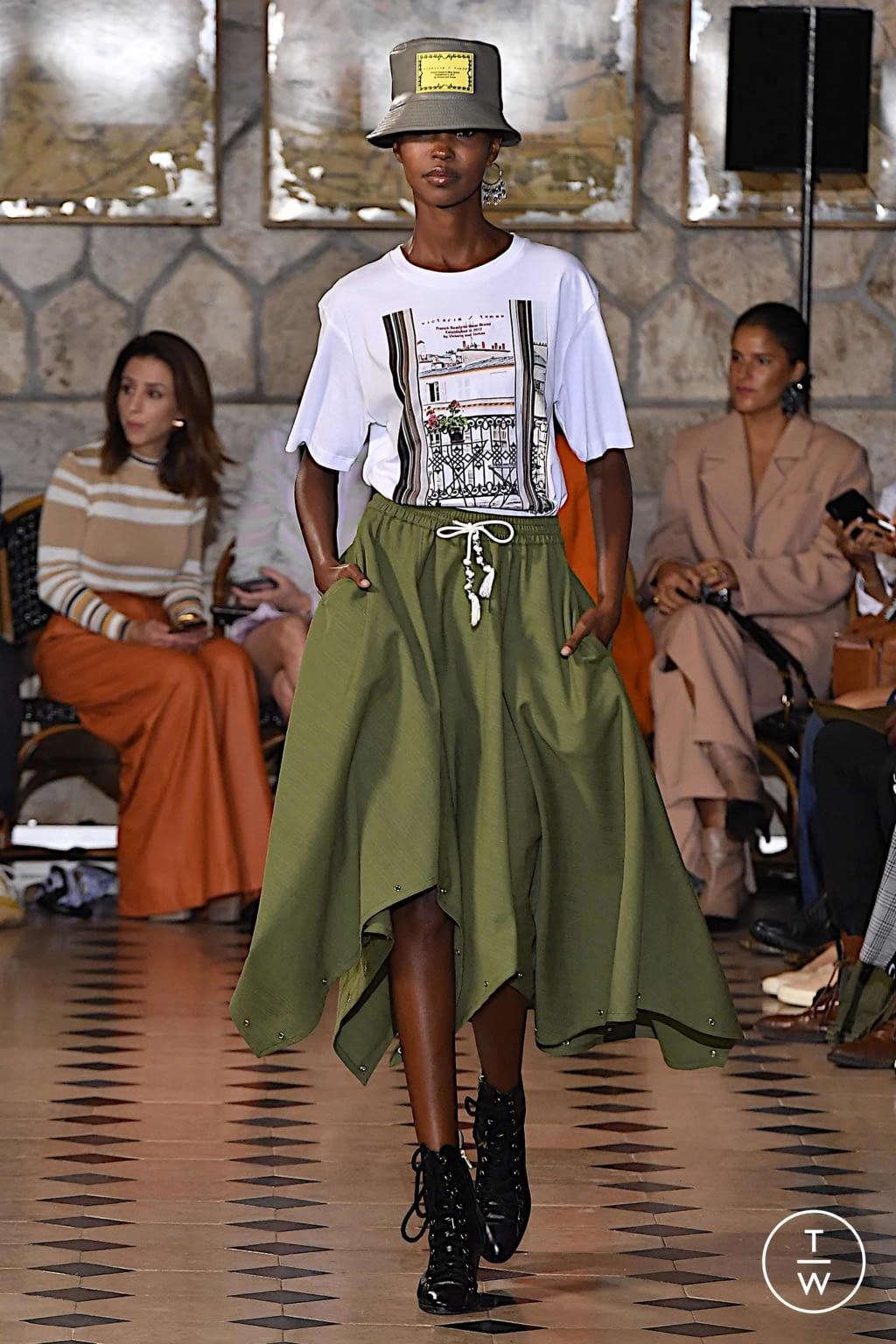 Fashion Week Paris Spring/Summer 2020 look 15 de la collection Victoria/tomas womenswear