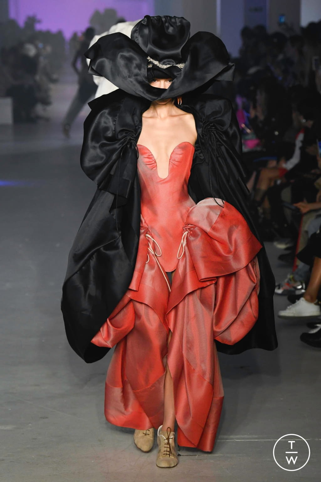 Fashion Week Paris Spring/Summer 2020 look 56 from the Andreas Kronthaler for Vivienne Westwood collection womenswear