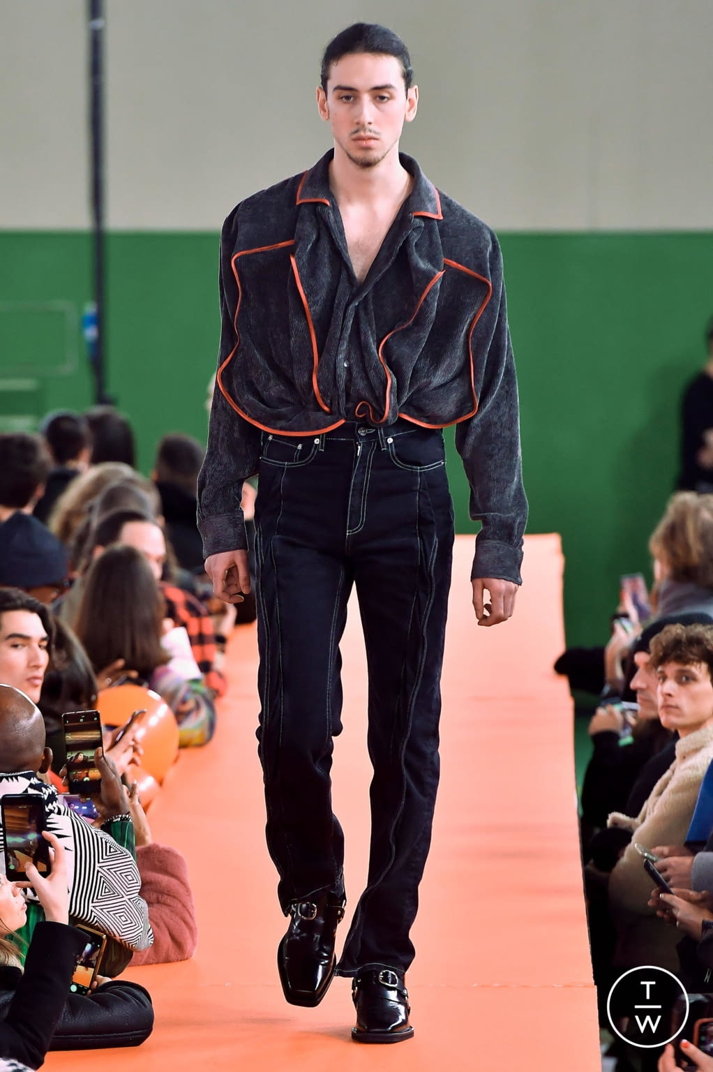 Fashion Week Paris Fall/Winter 2020 look 11 from the Y/PROJECT collection menswear