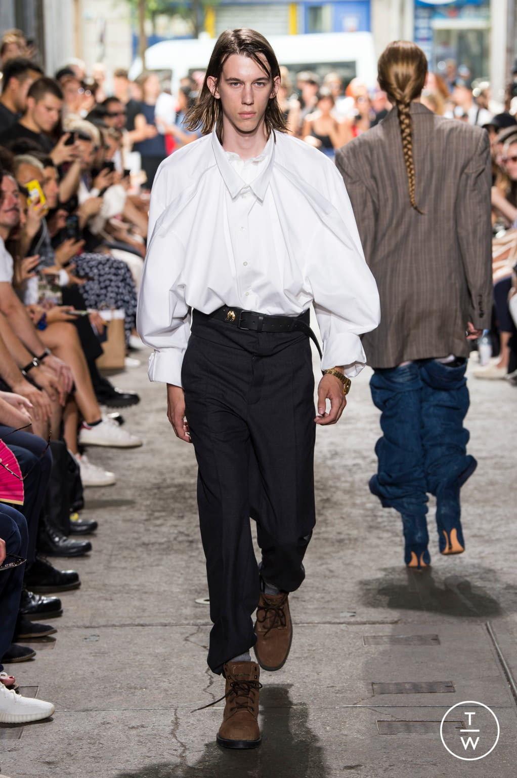 Fashion Week Paris Spring/Summer 2018 look 29 from the Y/PROJECT collection menswear