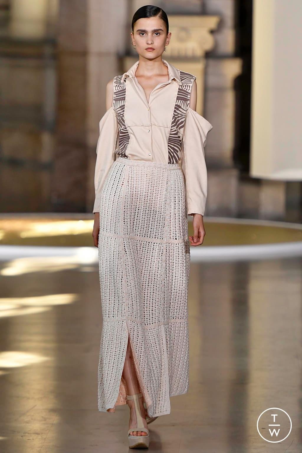 Fashion Week Paris Fall/Winter 2019 look 7 from the Yuima Nakazato collection 高级定制