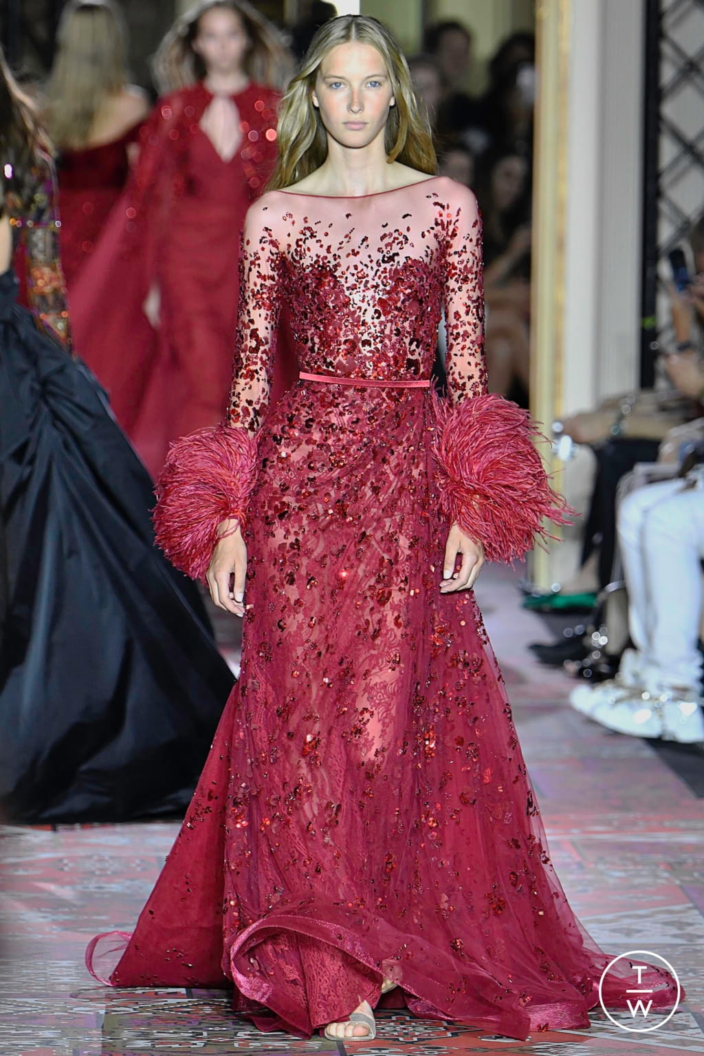 Fashion Week Paris Fall/Winter 2019 look 9 from the Zuhair Murad collection couture