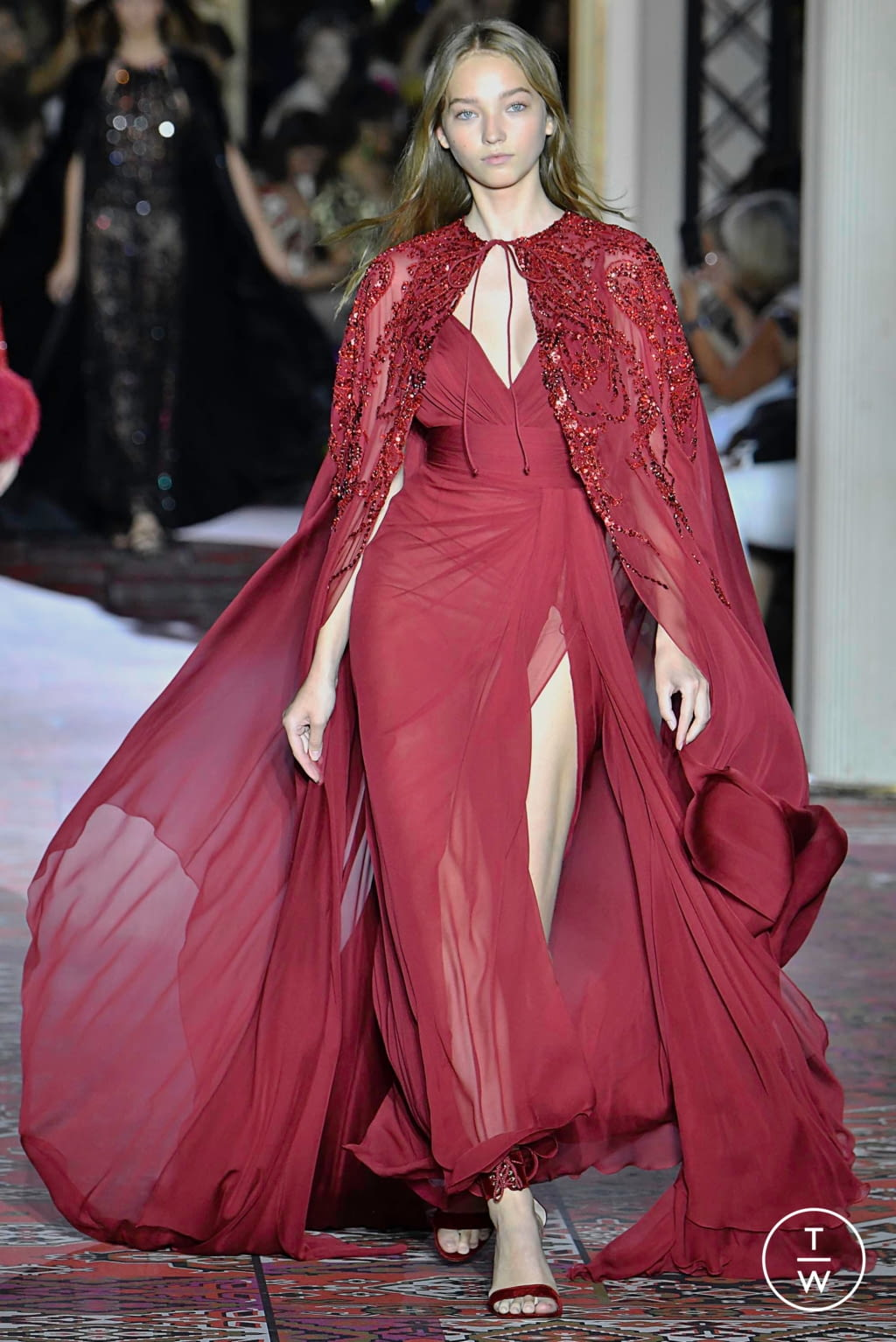 Fashion Week Paris Fall/Winter 2019 look 10 from the Zuhair Murad collection couture