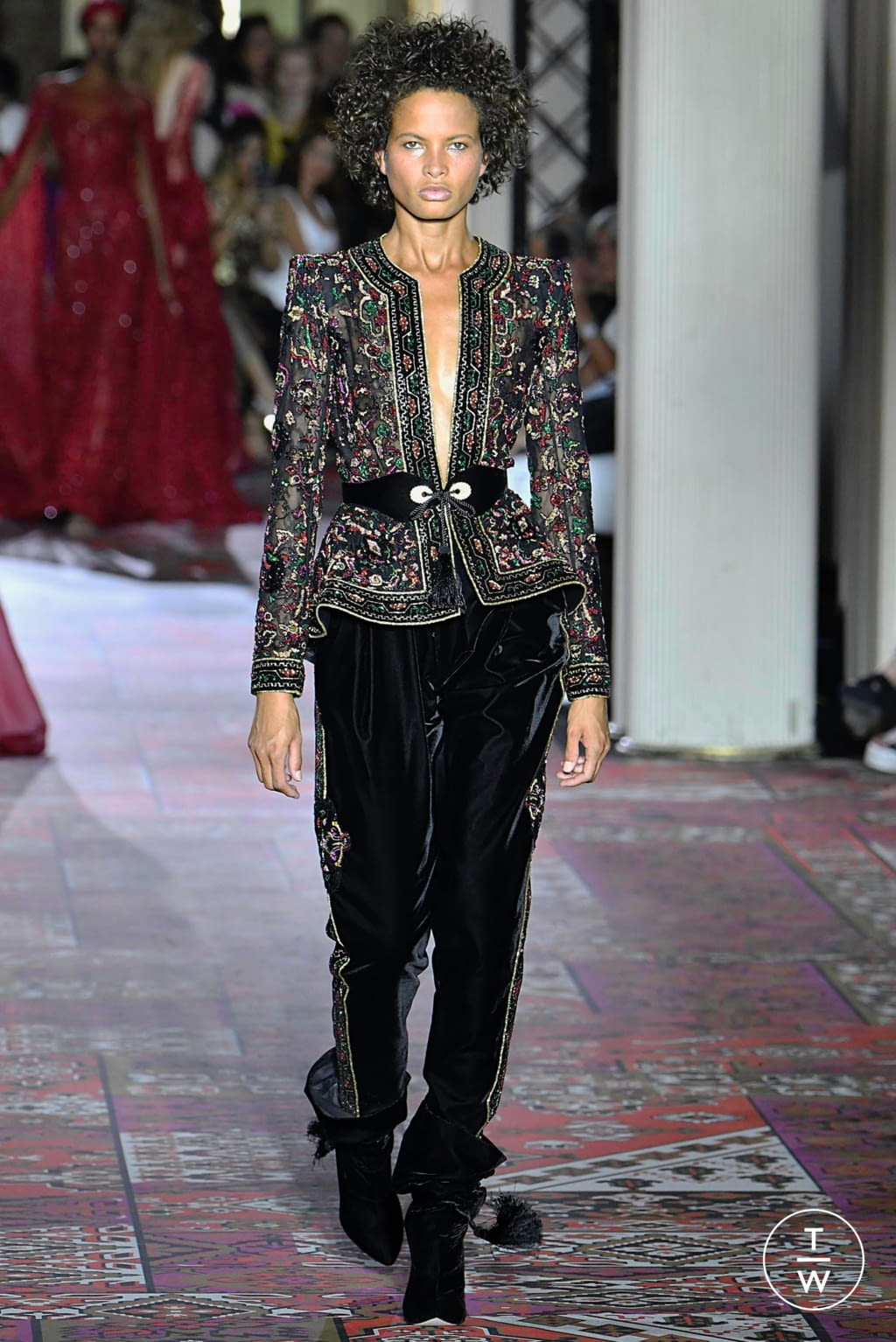 Fashion Week Paris Fall/Winter 2019 look 11 from the Zuhair Murad collection couture