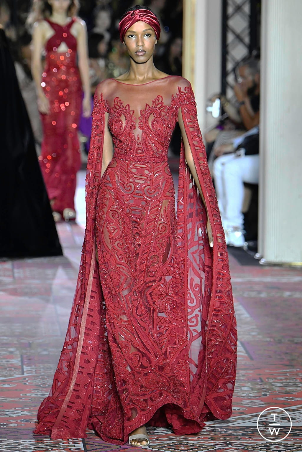 Fashion Week Paris Fall/Winter 2019 look 13 from the Zuhair Murad collection couture