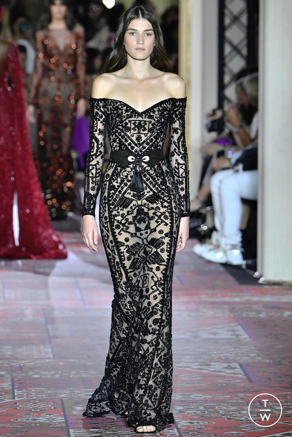 Fashion Week Paris Fall/Winter 2019 look 15 from the Zuhair Murad collection couture
