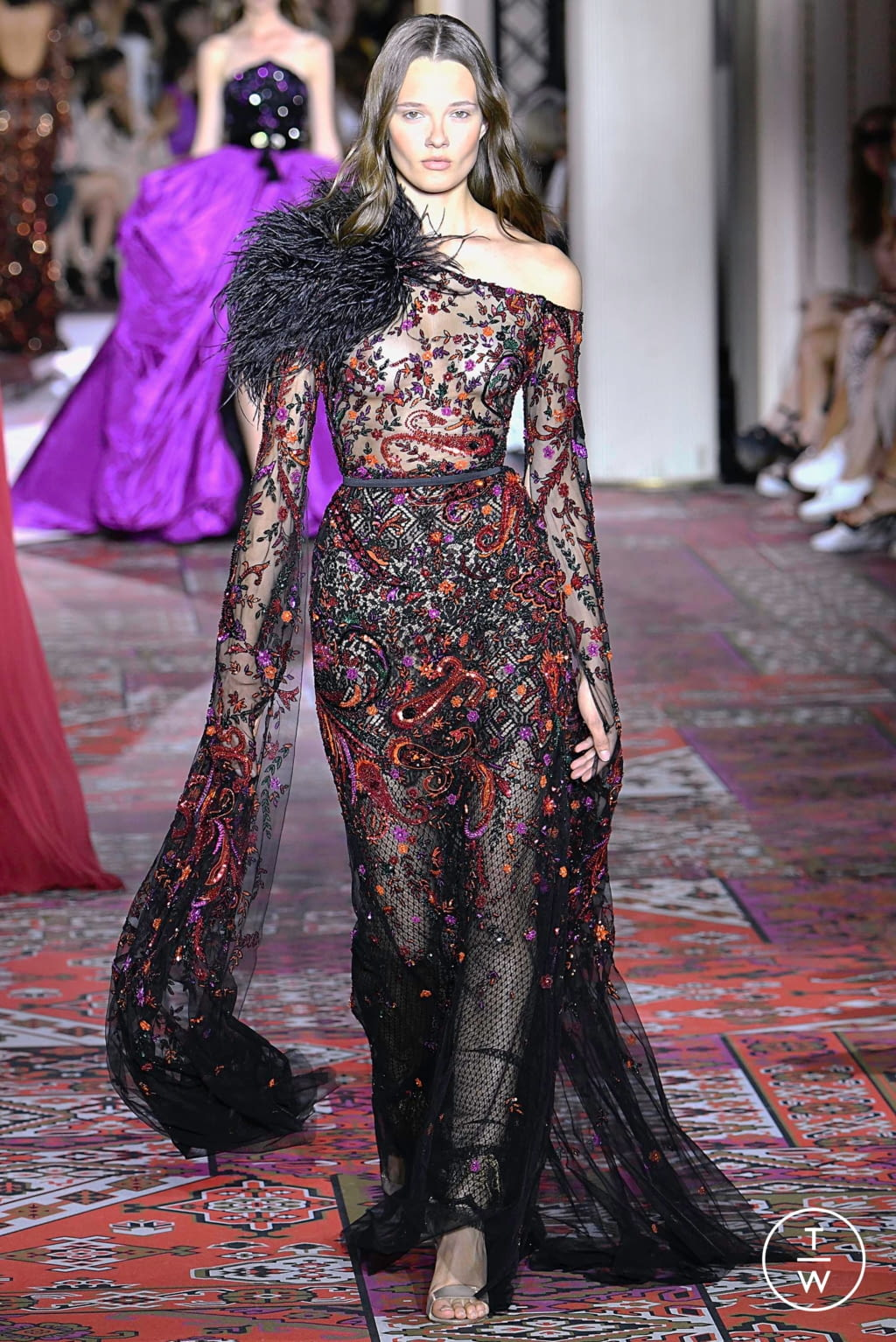 Fashion Week Paris Fall/Winter 2019 look 19 from the Zuhair Murad collection couture