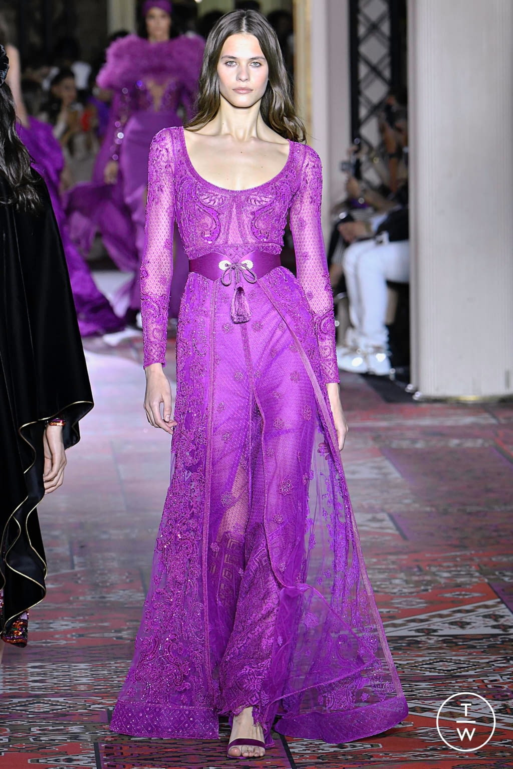 Fashion Week Paris Fall/Winter 2019 look 22 from the Zuhair Murad collection couture