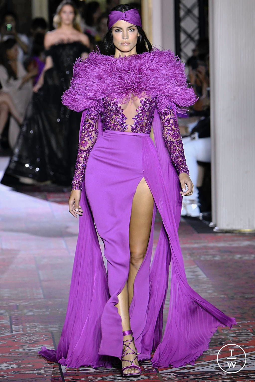 Fashion Week Paris Fall/Winter 2019 look 23 from the Zuhair Murad collection couture