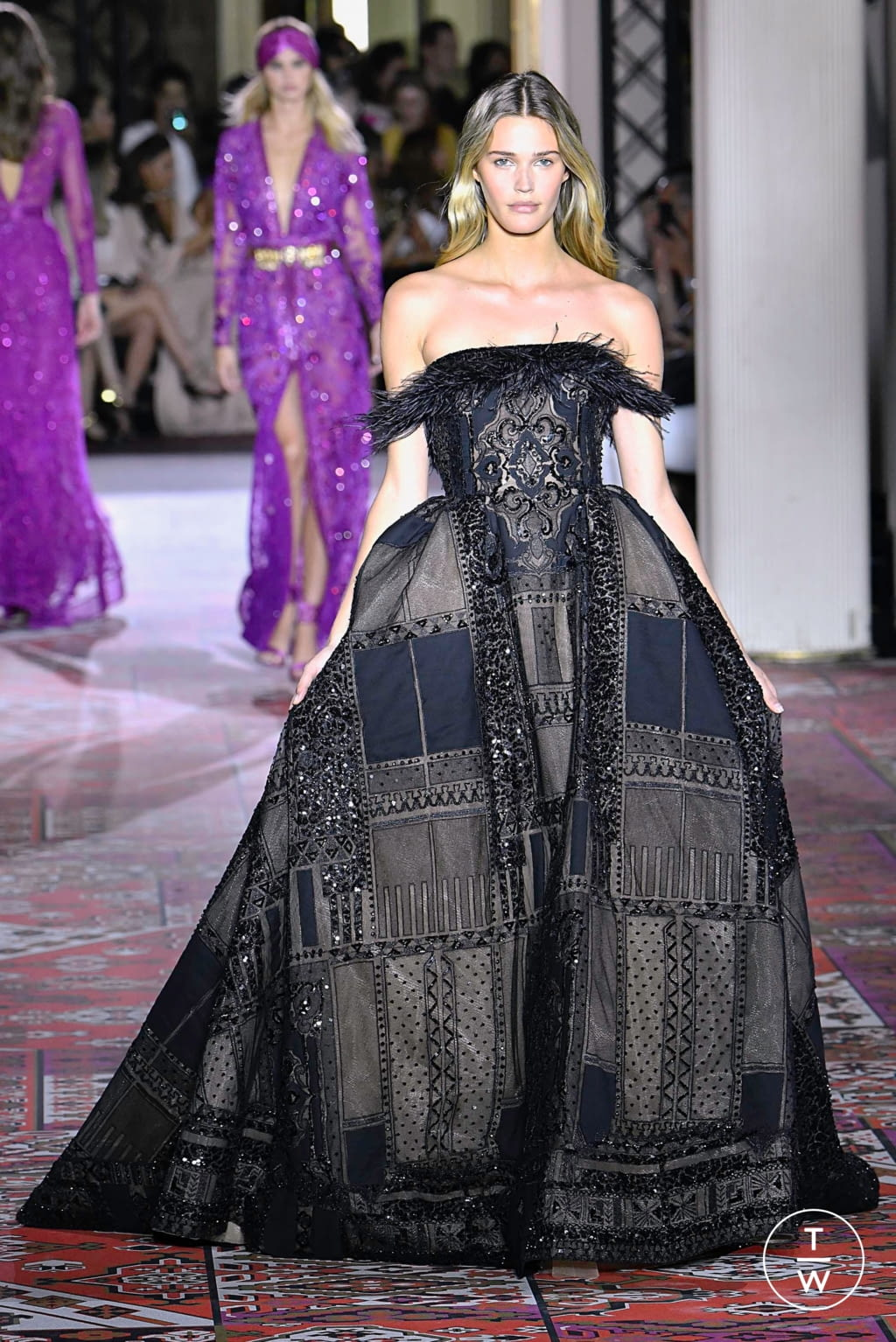Fashion Week Paris Fall/Winter 2019 look 24 from the Zuhair Murad collection couture