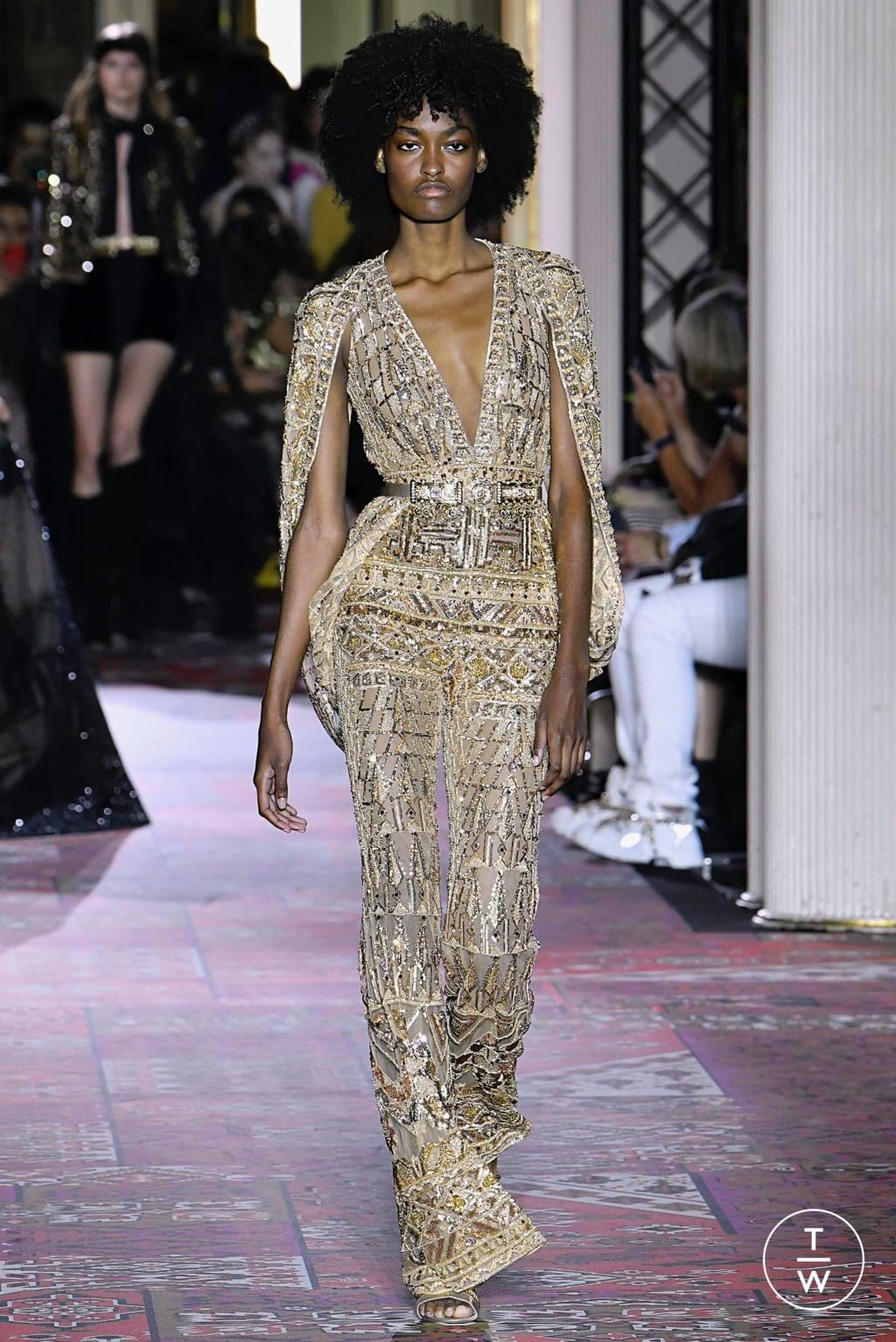 Fashion Week Paris Fall/Winter 2019 look 27 de la collection Zuhair Murad couture