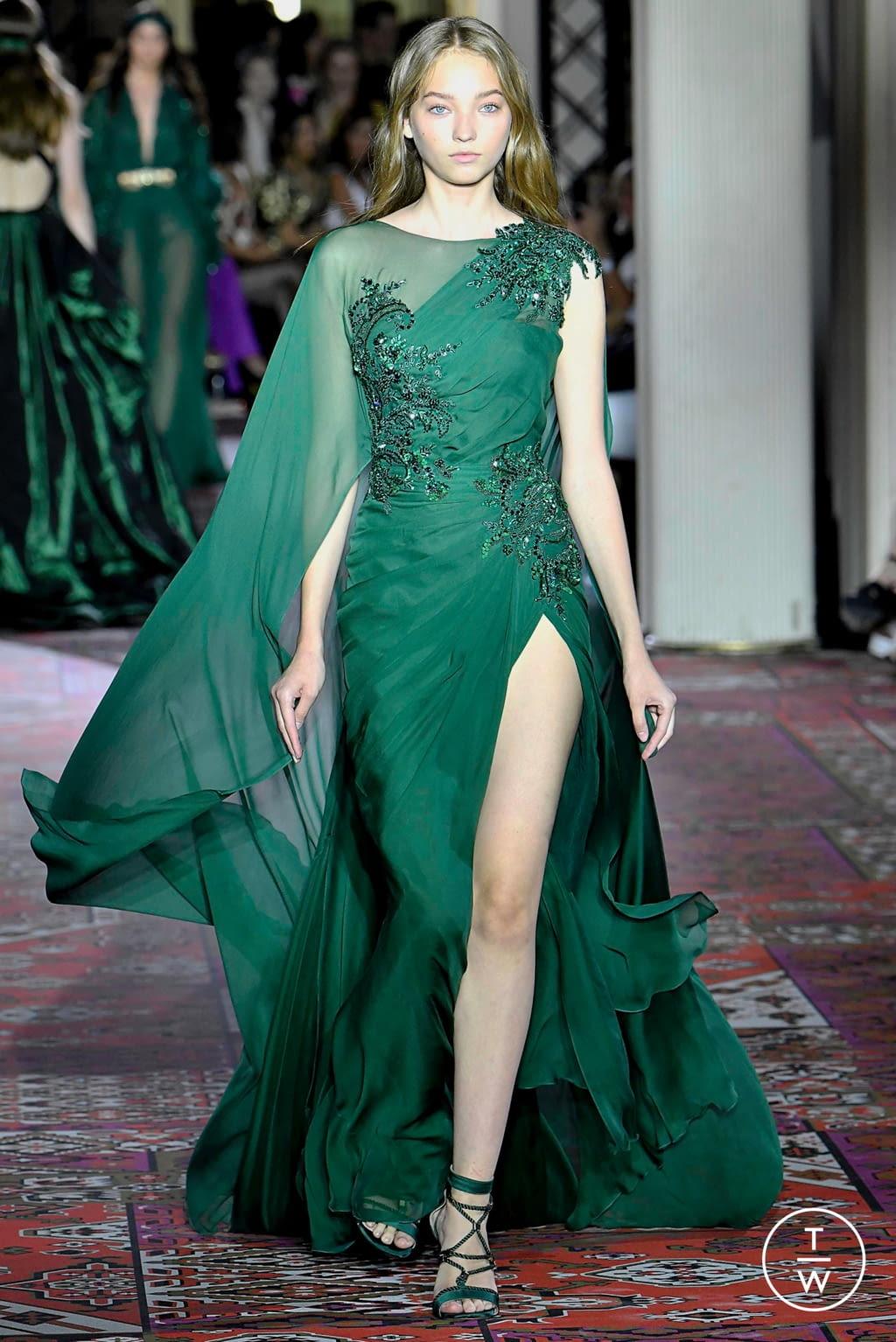 Fashion Week Paris Fall/Winter 2019 look 35 de la collection Zuhair Murad couture