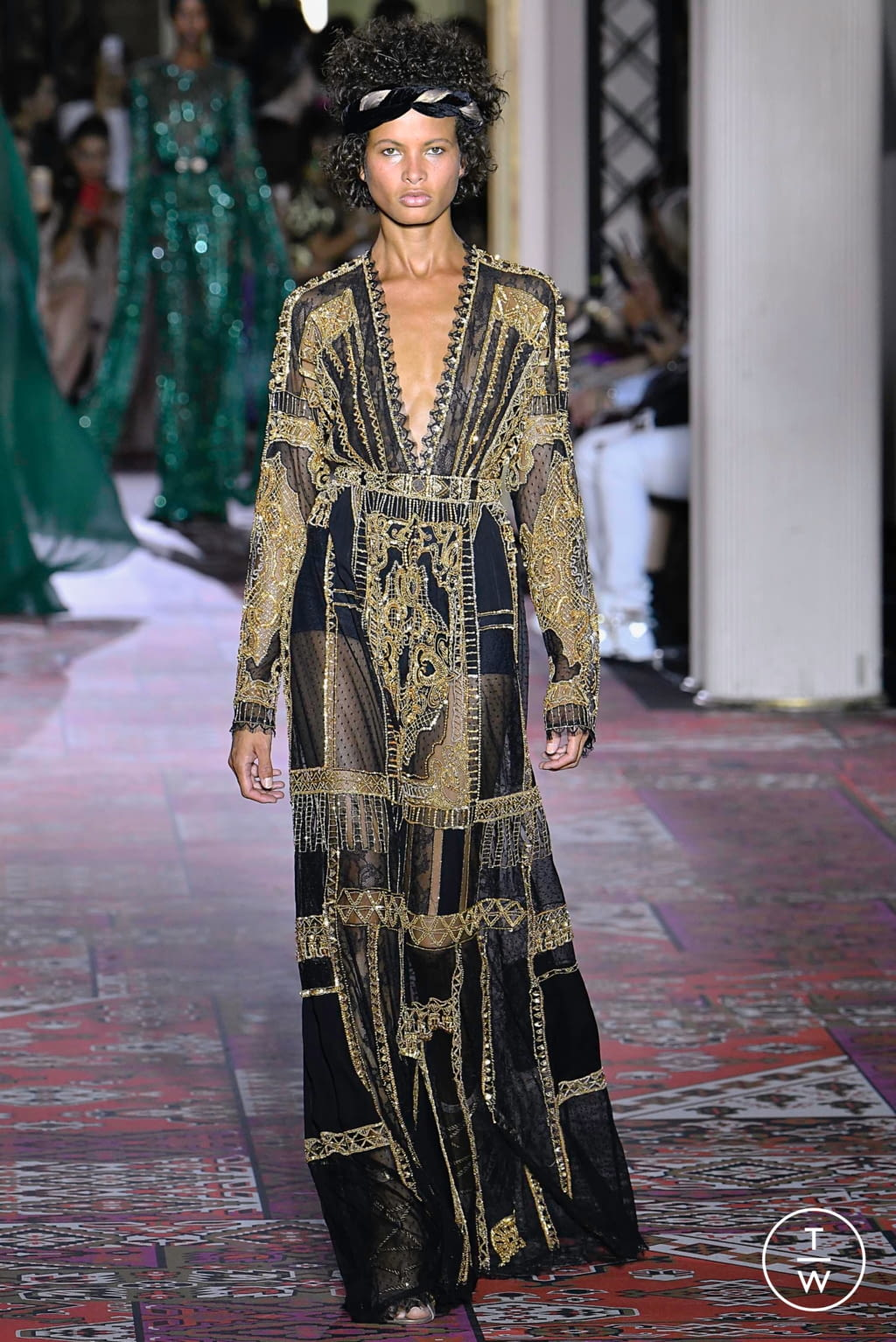 Fashion Week Paris Fall/Winter 2019 look 37 from the Zuhair Murad collection couture