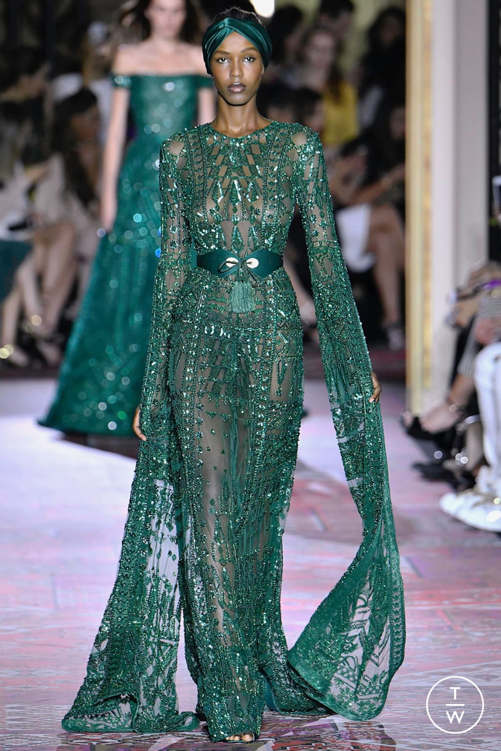 Fashion Week Paris Fall/Winter 2019 look 38 from the Zuhair Murad collection couture