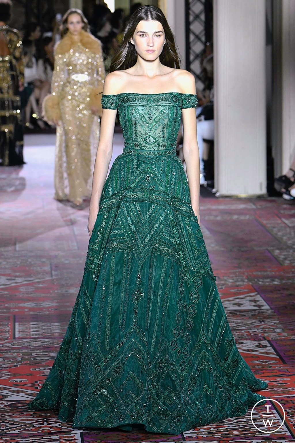 Fashion Week Paris Fall/Winter 2019 look 39 from the Zuhair Murad collection couture