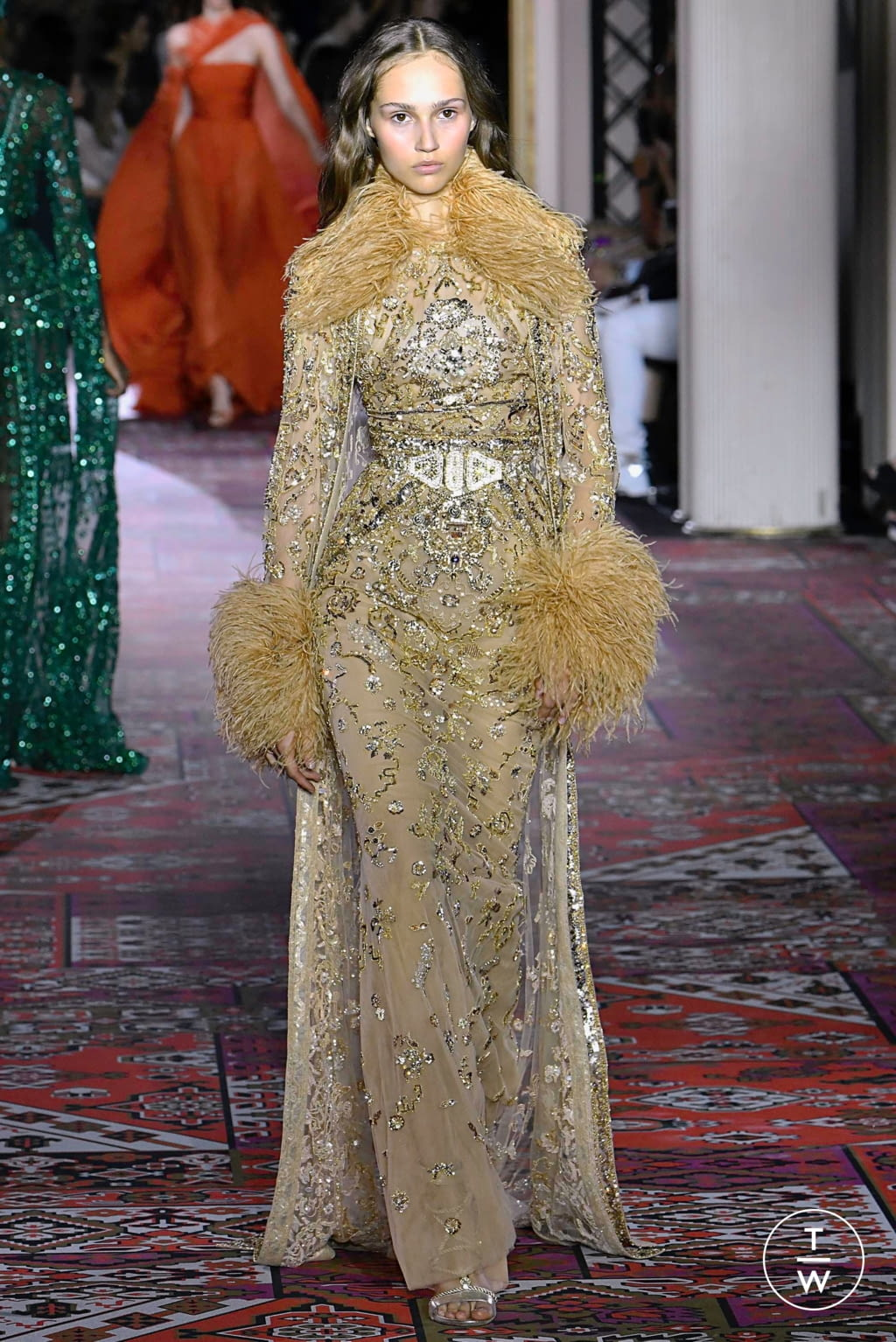 Fashion Week Paris Fall/Winter 2019 look 40 from the Zuhair Murad collection couture