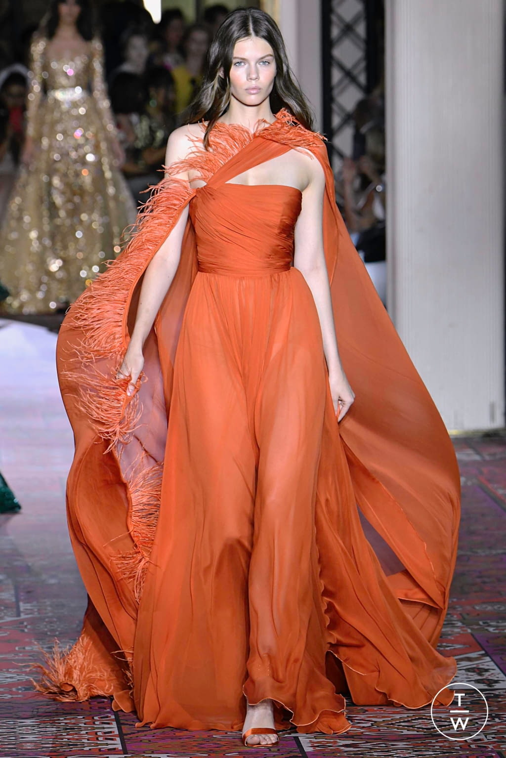 Fashion Week Paris Fall/Winter 2019 look 41 from the Zuhair Murad collection couture