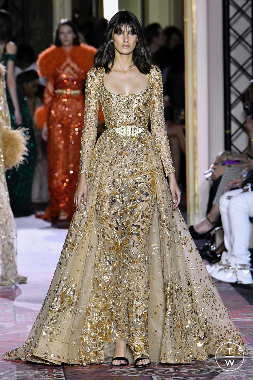 Fashion Week Paris Fall/Winter 2019 look 42 from the Zuhair Murad collection couture