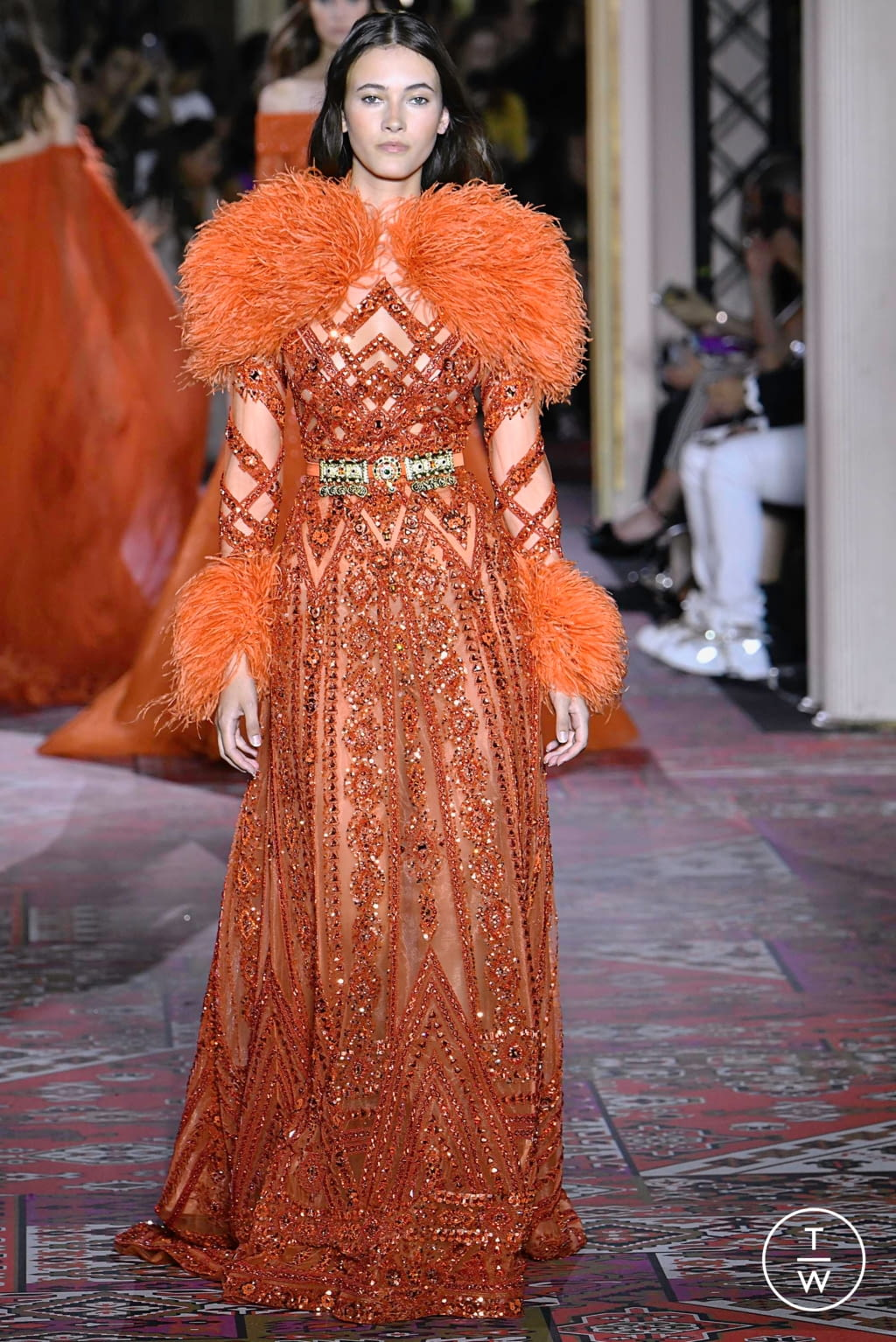 Fashion Week Paris Fall/Winter 2019 look 43 from the Zuhair Murad collection couture