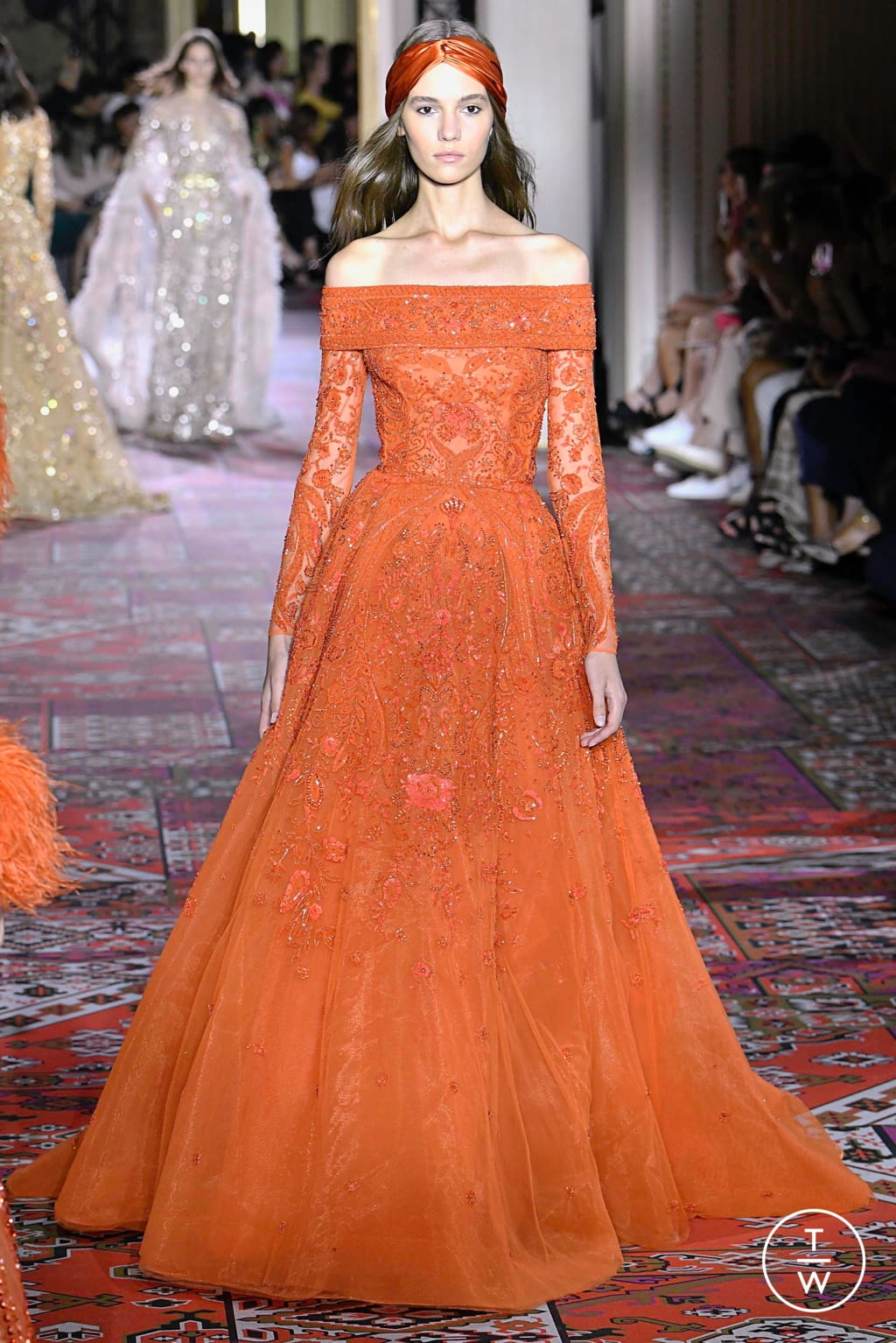 Fashion Week Paris Fall/Winter 2019 look 44 from the Zuhair Murad collection couture