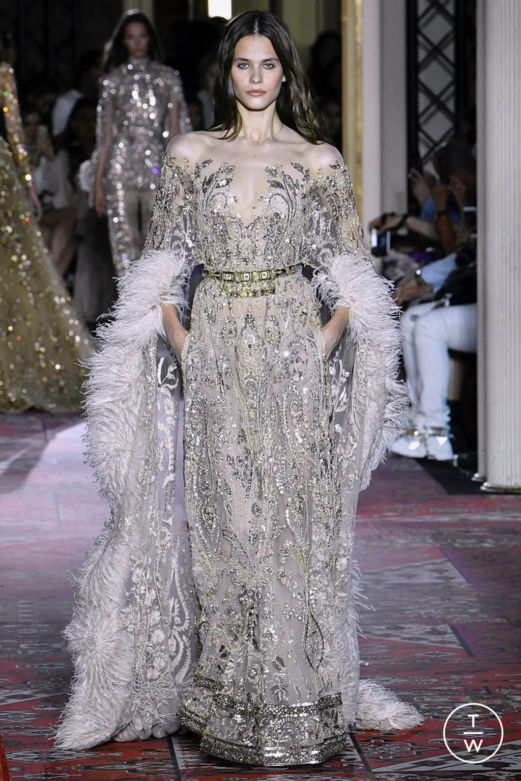 Fashion Week Paris Fall/Winter 2019 look 46 from the Zuhair Murad collection couture