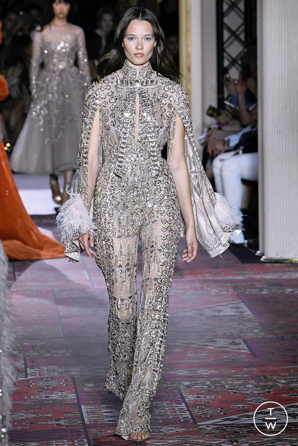 Fashion Week Paris Fall/Winter 2019 look 45 from the Zuhair Murad collection couture
