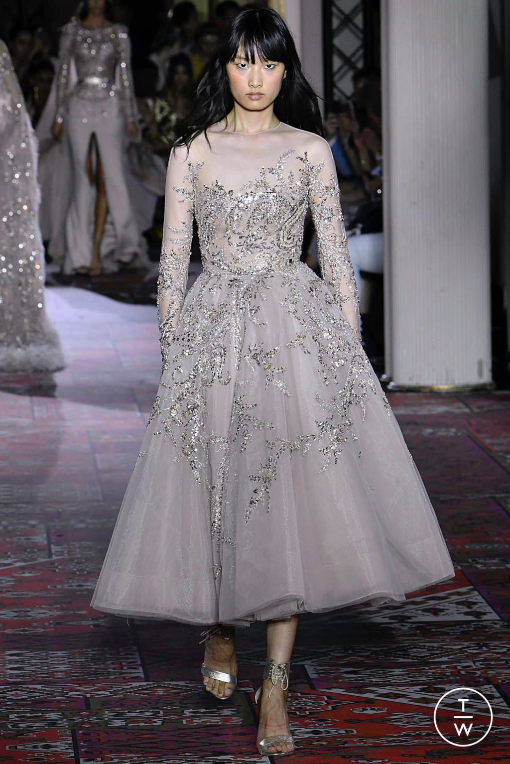 Fashion Week Paris Fall/Winter 2019 look 47 from the Zuhair Murad collection couture
