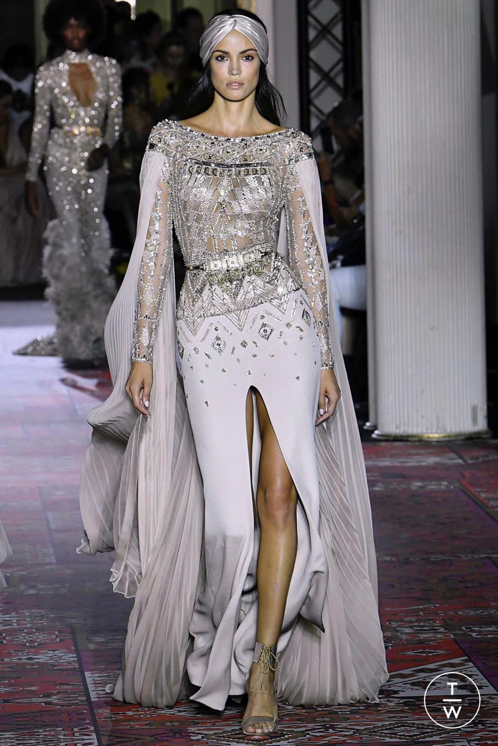 Fashion Week Paris Fall/Winter 2019 look 48 de la collection Zuhair Murad couture