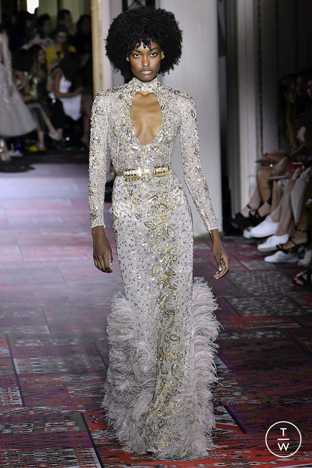 Fashion Week Paris Fall/Winter 2019 look 49 from the Zuhair Murad collection couture