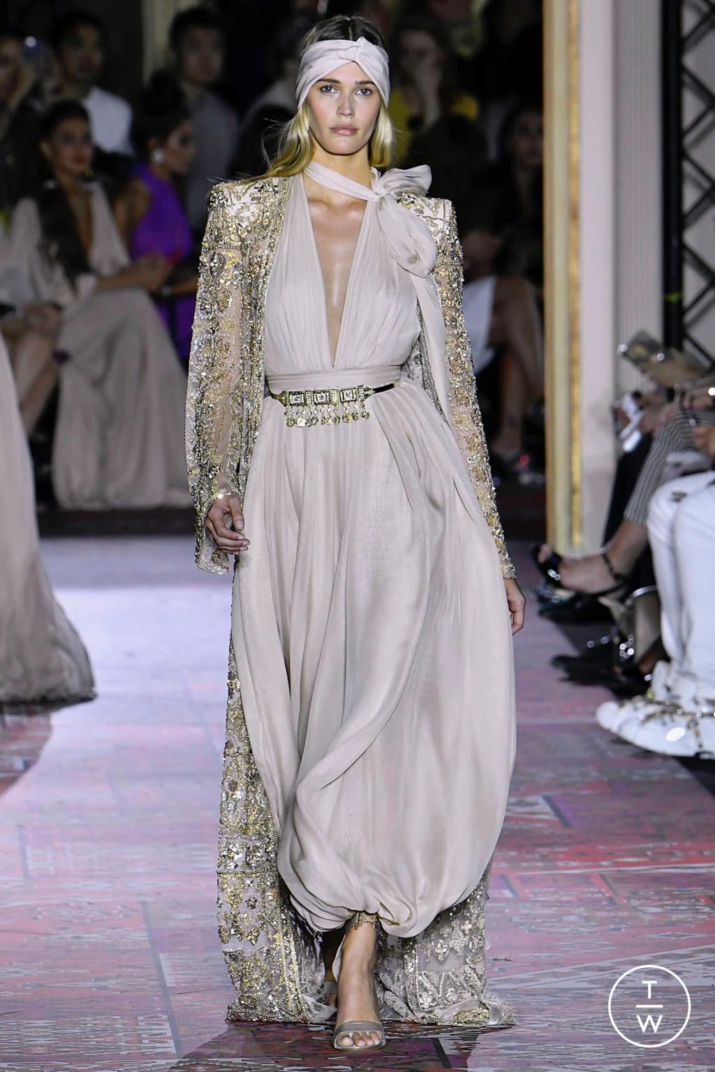 Fashion Week Paris Fall/Winter 2019 look 50 de la collection Zuhair Murad couture