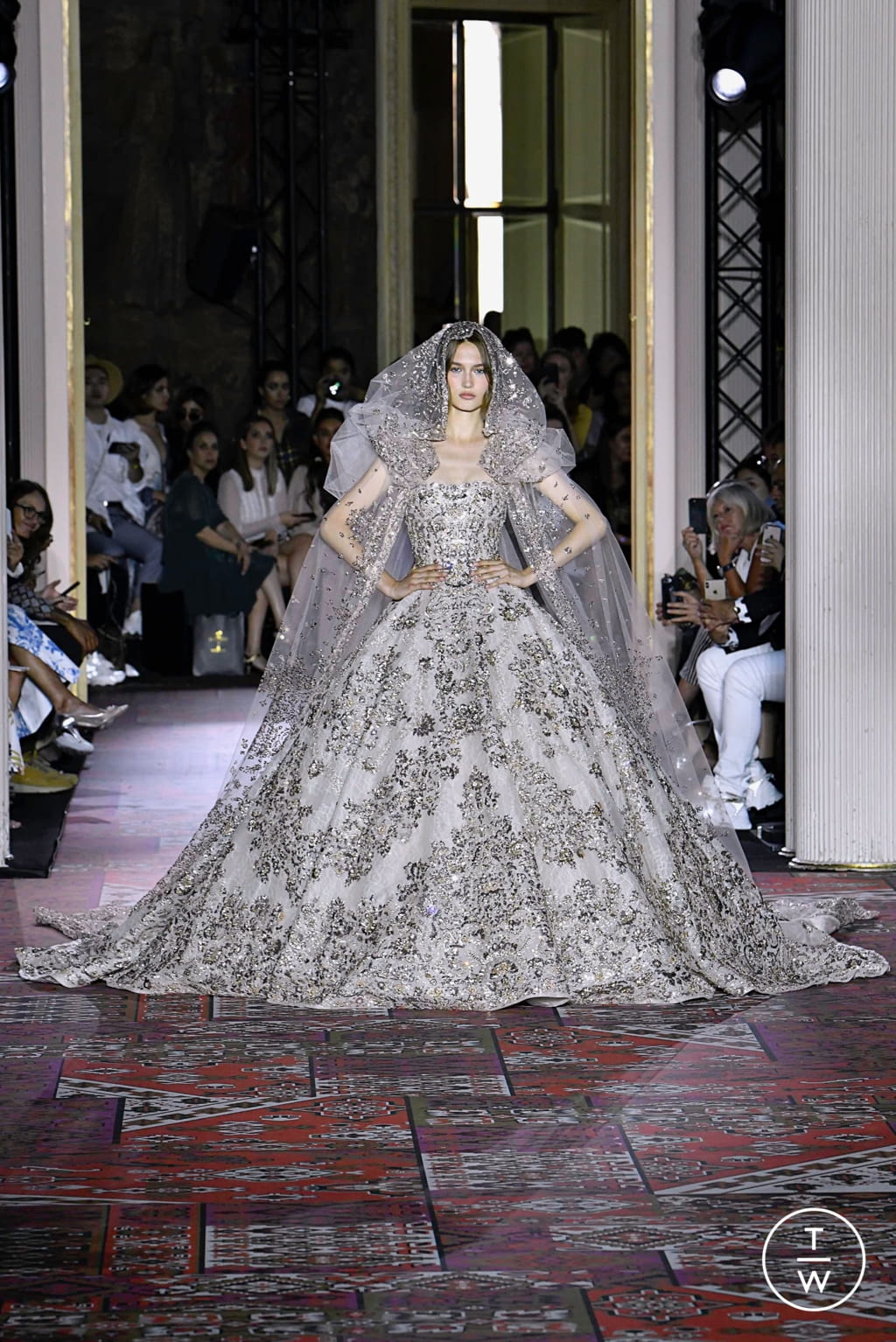 Fashion Week Paris Fall/Winter 2019 look 51 from the Zuhair Murad collection couture