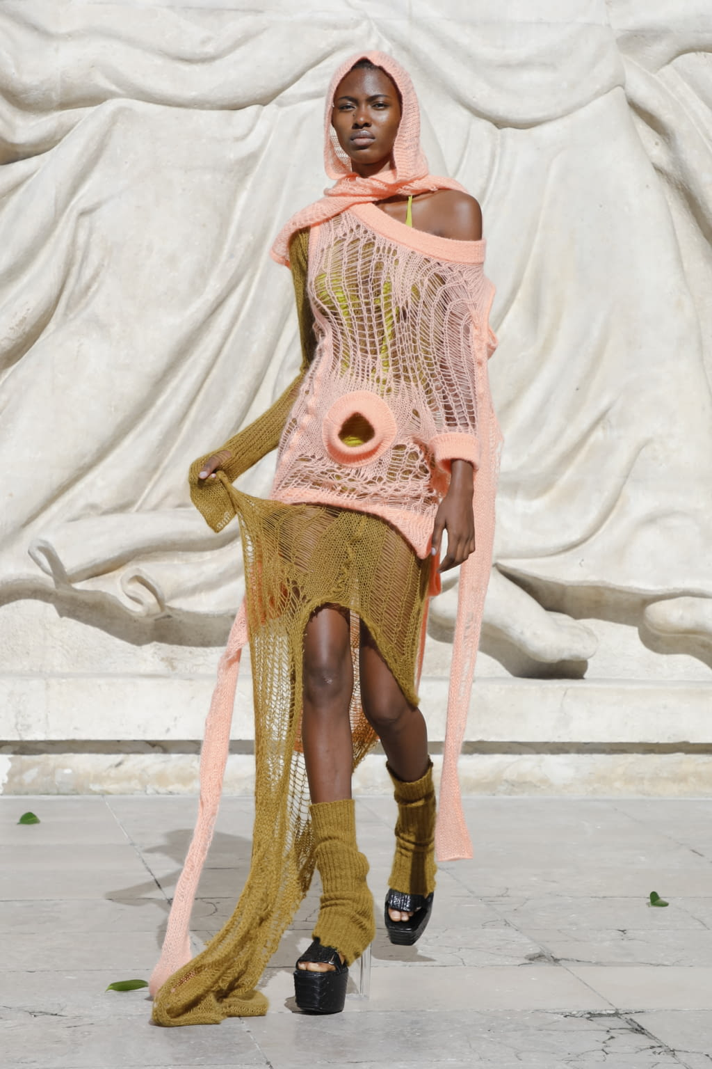 Fashion Week Paris Spring/Summer 2022 look 30 from the Rick Owens collection womenswear