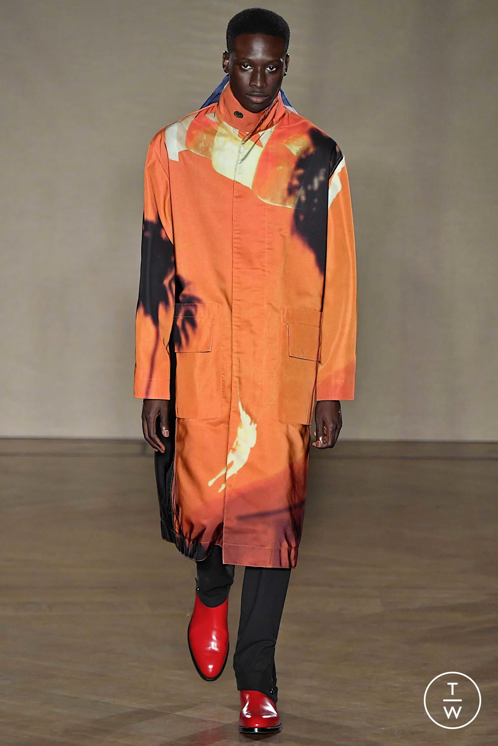 Designer plastron de soie en Bleu Avec Bleu Clair Orange Paisley